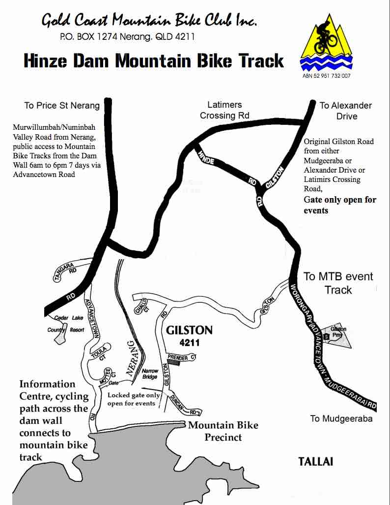Hinze Dam Map